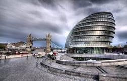 Det London stadshuset Arkivbilder