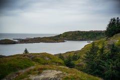 Det lugna havet i port royaltyfri fotografi