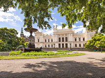 Det Lund universitetet parkerar område arkivfoton