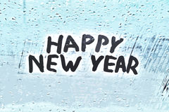 Det lyckliga nya året för inskrift Royaltyfri Bild