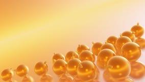 Det lyckliga nya året 2018 guld- Honey Inclinated klumpa ihop sig endast Royaltyfri Illustrationer