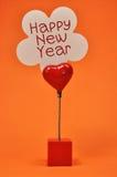 Det lyckliga nya året Placecard undertecknar Royaltyfri Foto