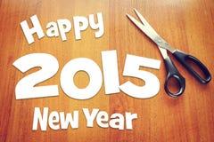 Det lyckliga nya året semestrar 2015 Arkivbilder