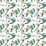 Det lyckliga och roliga lynnet för utrymmeresan - - illustration för barnen Royaltyfria Foton