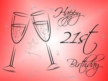Det lyckliga tjugo första indikerar partier och att gratulera för berömmar vektor illustrationer