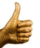 Det mänskliga handfingret gillar upp symbol Royaltyfri Bild