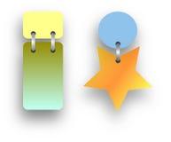 Det mång- företagskontoret - fungera färgerkännandeetiketten Arkivfoto