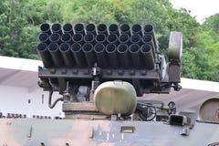 Det mång- raketgevärsystemet förbereder sig att testa Royaltyfria Bilder