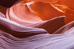Det mångfärgat vaggar av antilopkanjonen Arkivfoto