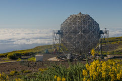 Det MAGISKA teleskopet i Roque de los Muchachos Observatorium, LaPA Arkivbilder