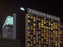 Det Mandarin Oriental hotellet i Singapore Fotografering för Bildbyråer