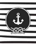 Det marin- temat, affischen för behandla som ett barn rum, hälsningkortet, trycket på väggen, kudden, garneringungeinre, behandla Royaltyfria Foton