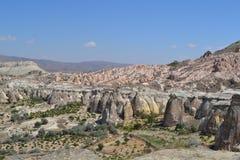 Det martian landskapet i den Cappadocia regionen Royaltyfria Foton