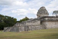 Det Mayan observatoriumet Royaltyfria Bilder