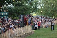 Det medeltida fortet Tryon för festival 2014 @ parkerar NYC 146 Royaltyfria Foton