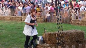 Det medeltida fortet Tryon för festival 2014 @ parkerar NYC 148 Royaltyfri Bild