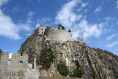 det medeltida slottet fördärvar Royaltyfri Foto