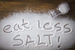 """Det medicinska begreppet äta för mindre salt †"""" Royaltyfri Foto"""