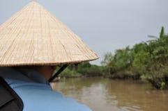Det Mekong deltafartyget snubblar, Vietnam Royaltyfria Foton