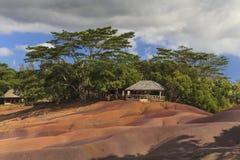 Det mest berömda stället av Mauritius - jord av colo sju Arkivbild