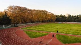 Det mest härliga universitetet---wuhan universitet Arkivfoton