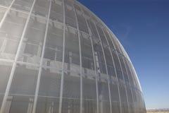 Metallisk byggnad Arkivbild