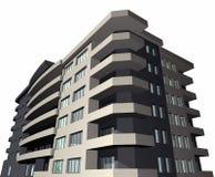 det moderna huset för byggnad 3d framför vektor illustrationer