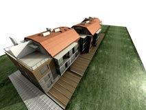 det moderna huset framför Fotografering för Bildbyråer