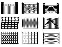 Det moderna staket utformar Stock Illustrationer