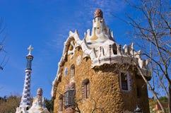 Det modernistiska huset parkerar in Guell, Barcelona, Spanien Royaltyfria Bilder