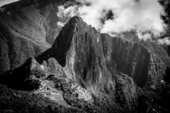 Det mystiska stället av Machu Picchu arkivfoton