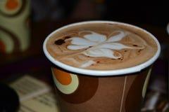 Det nära fotoet av kaffe Royaltyfria Foton