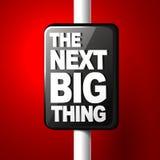 Det nästa stora tinget som snart kommer illustration för meddelande 3d vektor illustrationer