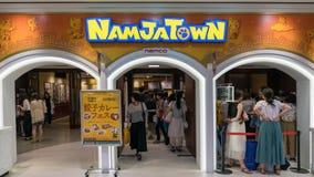 Det Namjatown nöjesfältet är ett inomhus nöjesfält i solskenstad av det japanska videospelföretaget Namco, Tokyo, Japan arkivfoton