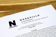 Det Nashville meddelandet arkivbilder