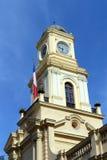 Det nationella historiska museet av Chile, lokaliseras i byggnaden av de kungliga åhörarna av 1808 byggnader Fotografering för Bildbyråer