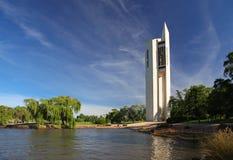 Det nationella klockspelet i Canberra, Australien arkivbild
