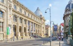 Det nationella museet av rumänsk historia i Bucharest arkivbild