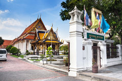 Det nationella museet, Bangkok, Thailand. Arkivbilder