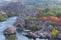 Det nationella ukrainska landskapet parkerar den Buzhskiy vakten Arkivbilder