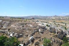 Det naturliga landskapet av den Cappadocia regionen Arkivbild