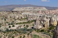 Det naturliga landskapet av den Cappadocia regionen Royaltyfri Bild