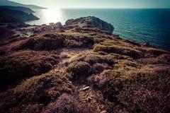 Det naturliga landskapet av ön av Kreta Royaltyfria Bilder