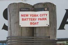 Det New York City batteriet parkerar fartyget Royaltyfria Bilder