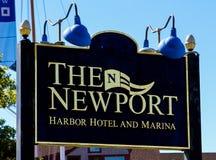 Det Newport hamnhotellet och marina, Newport, RI Royaltyfria Bilder