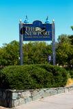 Det Newport hamnhotellet och marina, Newport, RI Arkivfoto