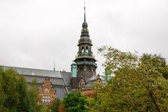 Det nordiska museet i Stockholm Royaltyfria Foton