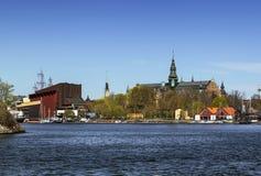 Det nordiska museet och Vasa sänder museet, Stockholm Arkivfoto