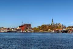 Det nordiska museet och Vasa sänder museet, Stockholm Arkivbilder