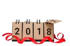 Det nya året 2018 är det kommande begreppet Royaltyfri Bild